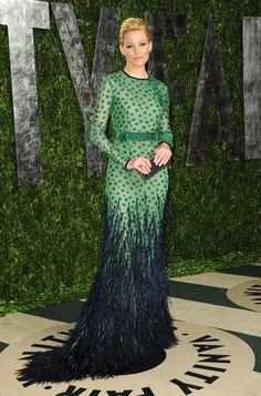 Elizabeth Banks. Vanity Fair Oscar party 2012.