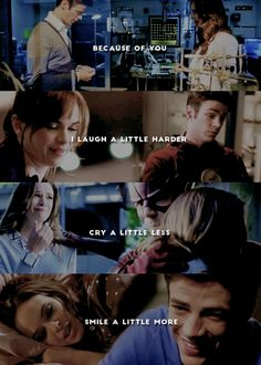 Because of you I learn how to love again ~ #Snowbarry #TheFlash #Barry+Cait