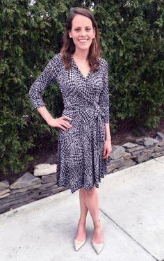 Wrap dress made by Meg Carter for the McCall Pattern Company 2015 Wrap Dress Sewalong. Vogue Patterns V8379.