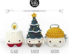4 seasons: WINTER pine cone reindeer snowman lalylala by lalylala