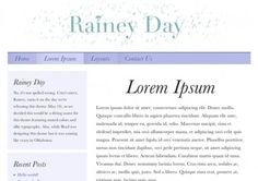 Elegant typography, a soothing color scheme and plenty of room for your content to breathe. And no, Rainey isn't spelled wrong — we named it after Cory's niece.