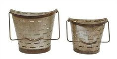 Olive Bucket with Handles