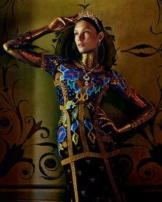 Costume Drama: #AlexandraMartynova by #AndrewYee for #HowToSpendIt November 2015