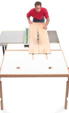 Working Alone with Plywood Tips for taming those awkward and heavy sheets. by Jean Bartholome Woodworking alone is peaceful, serene and quiet. Just you, the radio and your project. It's also a pain in the posterior when you have to work with big, heavy sheets of plywood, MDF or particleboard. If you can get help, it's great, but often we end up battling them alone. Here are some tips …