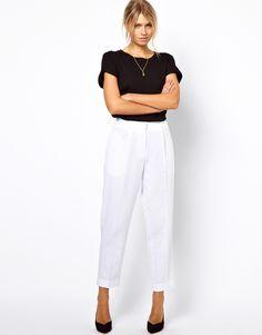 ASOS Peg Pants in Linen