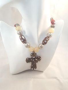 Brass Cross Pendant Necklace by FAR31FarAboveRubies on Etsy