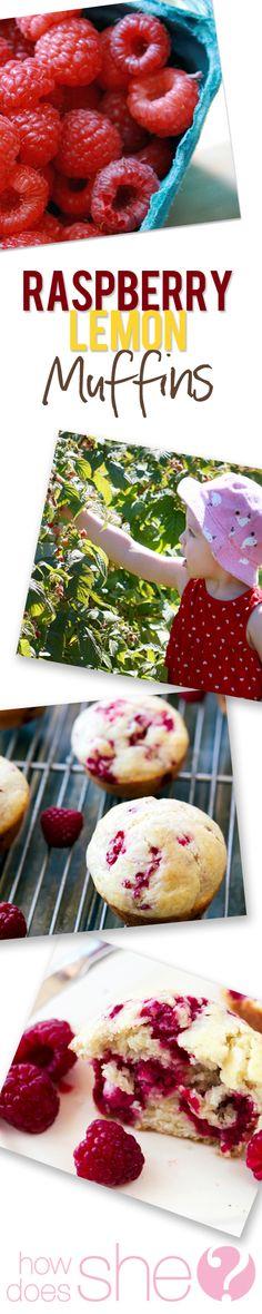 Raspberry Lemon muffin