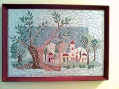 Templomos kép - csempemozaik