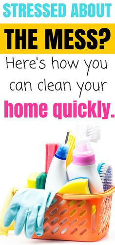 When you have young kids, having a messy house can be stressful. This post will help you quickly clean your house. Click here to get your FREE printable instructions to quick clean your house!