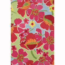 Dash & Albert Power Poppies Wool Rug Size: 2 1/2' by 8'