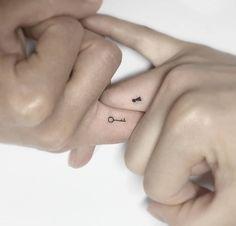 Minimalist tattoo ideas for couples - Tattoo ideen - Tatoo Ideen Matching Bff Tattoos, Cute Couple Tattoos, Small Tattoos For Couples, Couples Matching Tattoos, Couple Tattoo Ideas, Small Bff Tattoos, Wrist Tattoos, Couple Tattoos Unique Meaningful, Small Best Friend Tattoos