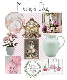 """""""Mother's Day"""" by kelley-9 ❤ liked on Polyvore featuring interior, interiors, interior design, home, home decor, interior decorating, Wedgwood, Pavilion Broadway, Lenox and Oliver Gal Artist Co."""