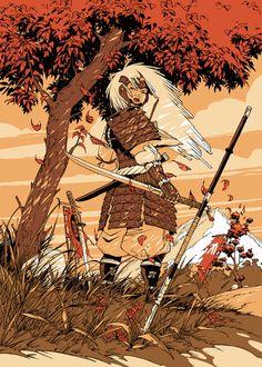 Okko, Volume - The Cycle of the Earth, Volume 2 Fantasy Kunst, Fantasy Art, Comic Kunst, L5r, Epic Art, Classical Art, Anime, Comic Artist, Samurai