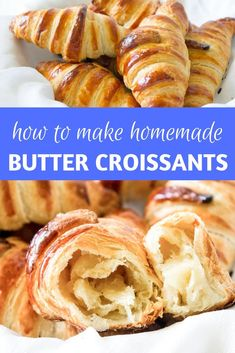 Learn how to make Paris-worthy croissants right at home! These homemade croissants are flaky, buttery, and très délicieux! Croissant Brioche, French Croissant, French Butter Croissant Recipe, French Dishes, French Desserts, French Food, Pastry Recipes, Baking Recipes, Traditional French Recipes