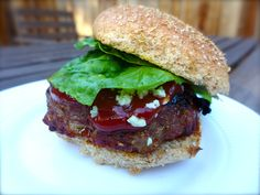Step 7: After another 3 minutes, remove the burger and place on a toasted whole-wheat bun. Serve with organic ketchup, mayo, lettuce and blue cheese crumbles. Enjoy!