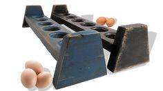 Reclaimed Wood Egg Holder Long Narrow Tray Rustic Food