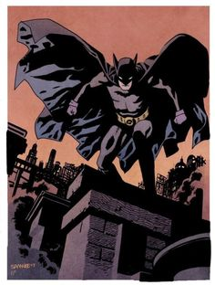 Batman by Chris Samnee and Nathan Fairbairn. Comic Book Artists, Comic Artist, Comic Books Art, Dc Comics, Batman And Superman, Batman Metal, Funny Batman, Batman Stuff, Batman Artwork