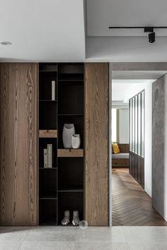 Shelf Design, Cabinet Design, Wall Design, House Design, Modern Interior, Home Interior Design, Interior Architecture, Interior Decorating, Apartment Design