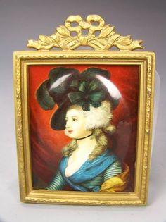 Limoges Enamel Lady Portrait Frame | eBay