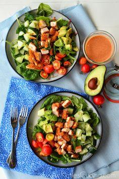 Chicken Chop Salad w/ Smoky French Dressing from @Katie Hrubec Schmeltzer Jasiewicz