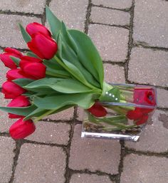 Red Tulip Bouquet  I Love This
