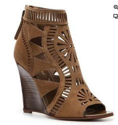 Suede cut-out wedges, cute for Summ.