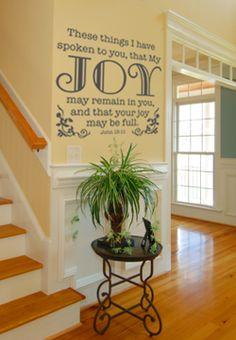 Joy may be full