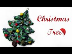 make a pine tree from polymer clay Recipe For Christmas Ornaments, Christmas Crafts For Kids, Xmas Crafts, Christmas Projects, Christmas Trees, Polymer Clay Christmas, Ornament Tutorial, Clay Design, Clay Tutorials