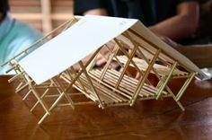 Abrigos para refugiados usa bambu e madeira reciclada ~ ARQUITETANDO IDEIAS