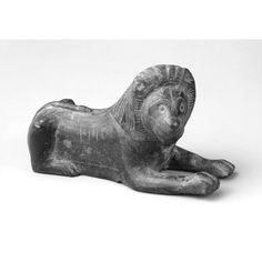 Couchant lion  mid 6th century B.C.    Greek , Corinthian    The Princeton University Art Museum