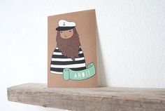 Card- Sailor on Etsy, $1.58