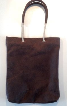 Shopper Touwhengsel Vintage Brown Handmade leather bag