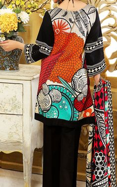Find New Pakistani Winter Collections Winter Dresses Online, Pakistani Dresses Online, Pakistani Dresses Casual, Casual Dresses, Textile Prints, Textile Design, Textiles, Print Ideas, Fall Collections