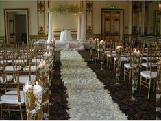 winter church wedding - Google Search  The canopy would be a good way to go :)