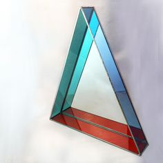Stained Glass Mirror #sacredgeometry #beholdthetriangle #debbiebean #stainedglass