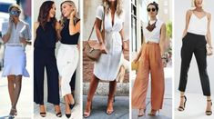 Pants: office outfits for summer. Modest Summer Outfits, Modest Summer Fashion, Casual Summer Outfits For Women, Summer Fashion For Teens, Summer Fashion Outfits, Fashion Skirts, Expensive Clothes, Romper Outfit, Rock Outfits