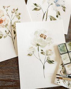 Watercolor Drawing, Watercolor Illustration, Watercolor Flowers, Painting & Drawing, Watercolor Paintings, Floral Illustrations, Nature Paintings, Botanical Art, Painting Inspiration