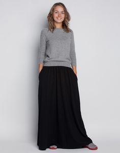 Длинная юбка с карманами