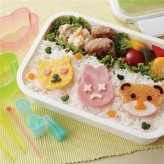Lunch Box BENTO TORUNE DECO jambon fromage légumes moule Cutter bricolage MADE IN JAPAN