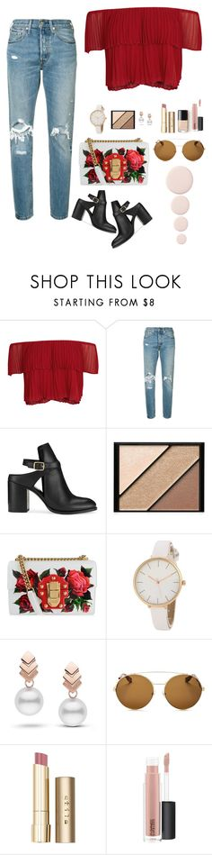 """Untitled #149"" by natali126 ❤ liked on Polyvore featuring Keepsake the Label, Levi's, Miss Selfridge, Elizabeth Arden, Dolce&Gabbana, Escalier, Givenchy, Stila and MAC Cosmetics"