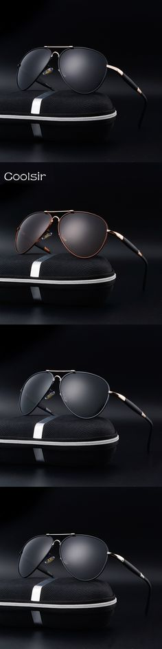 New 2017 Coolsir Brand Designer Polarized aviator Sunglasses Men fashion Metal frame Retro Driving Travel gafas de sol hombre