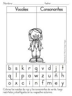 Fichas de repaso, vocales y consonantes, masculino y femenino, singular plural, etc….