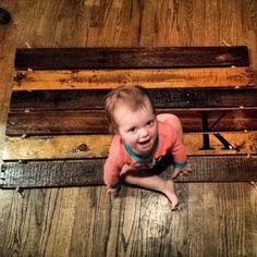 Already made up or diy;   https://www.etsy.com/listing/174565059/beautiful-reclaimed-wood-door-mat?ref=sr_similar_target