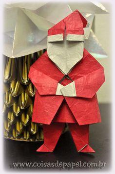 """""""Father Christmas"""", de Steve e Meguni Biddle, dobrado com papel ssanduiche 21 X 21"""