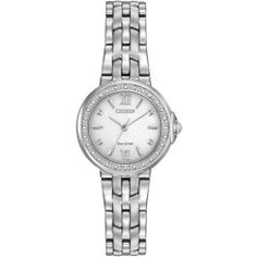 Ladies' Citizen Eco-Drive Diamond Dial Stainless Steel Watch EM0440-57A