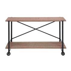 Woodland Imports Accent Metal Wood Console Table $225