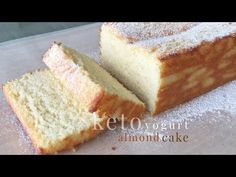 Keto Yogurt Almond Cake - YouTube Greek Yogurt Cake, Yogurt Dessert, Yogurt Bread, Greek Cake, Healthy Yogurt, Healthy Cake, Healthy Desserts, Almond Yogurt, Cake Recipes