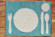 Place Setting DIY from A Beautiful Mess : seems like a cute way to teach kiddos how to set the table