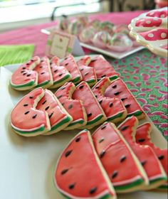 Watermelon Themed Birthday Party for a Little Girl.love the watermelon cookies for of July, to Picnic Theme, Picnic Birthday, Summer Birthday, 1st Birthday Girls, 1st Birthday Parties, Birthday Ideas, Summer Theme Parties, Teen Parties, Summer Themes