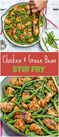 Fast & Simple Chicken and Green Bean Stir Fry for Clean Eating - Clean Food Crus. Fast & Simple Chicken and Green Bean Stir Fry for Clean Eating - Clean Food Stir Fry Recipes, Cooking Recipes, Healthy Recipes, Simple Food Recipes, Clean Chicken Recipes, Eat Clean Recipes, Clean Eating Dinner Recipes, Healthy Chicken Meals, Health Food Recipes